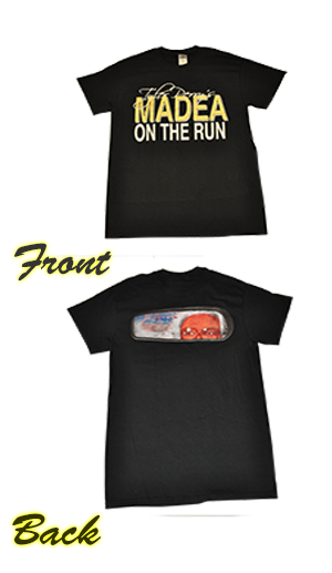 Tyler Perry's -  Madea On The Run T-Shirt-Black